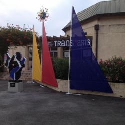 Voiles de décoration pour la galerie Trans'Arts à Cogolin (83)