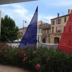 Voiles décoratifs extérieurs colorés pour une exposition artistique annuelle
