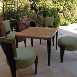 Confection de chaises vert clair avec mousse confort